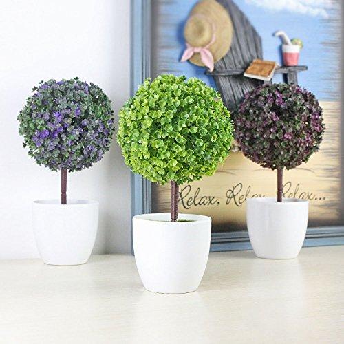 Bureze Bureau décoratifs Arbres Plante en Pot en Pot Pot Décoration décoratifs