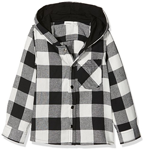 NAME IT NAME IT Baby-Jungen NMMGILIAS LS Shirt W Hood Hemd, Mehrfarbig (Snow White), 92
