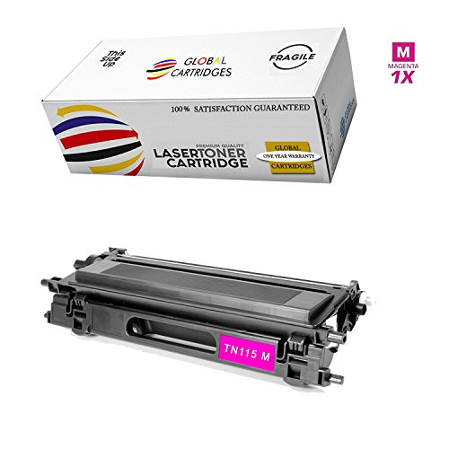 GLB Premium Quality Compatible Replacement For Brother TN115 High Yield Magenta TN115M Toner Cartridge for use with DCP9040CN DCP9045 HL4040 HL4040CN HL4070CDW MFC9440CN MFC9450CDN MFC9840CDW Printers