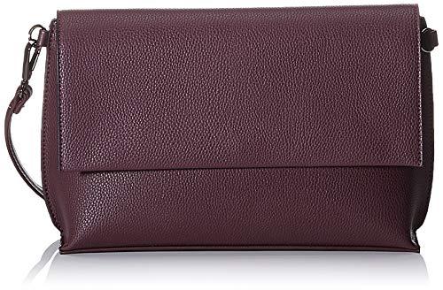 TOM TAILOR Umhängetasche Damen Magda, Rot (Dunkelrot), 29x18x8 cm, TOM TAILOR Handtaschen, Taschen für Damen