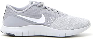 Nike Womens Flex Contact Wolf Grey/White-Pure Platinum-Cool Grey Running Shoes (6)