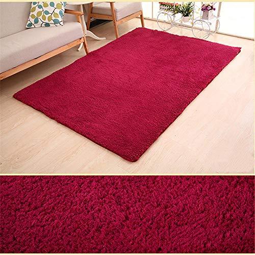 ZHAOPAI Rugliving kamer tapijtenMeubilair tapijtHouse decoratie mooie tapijten woonkamer Crawling mat mechanisme Eenvoudige tapijt Rode wijn