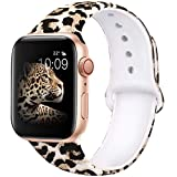 EXCHAR Compatible with Apple Watch Band 40mm 38mm Fadeless Pattern Printed Floral Bands Si...