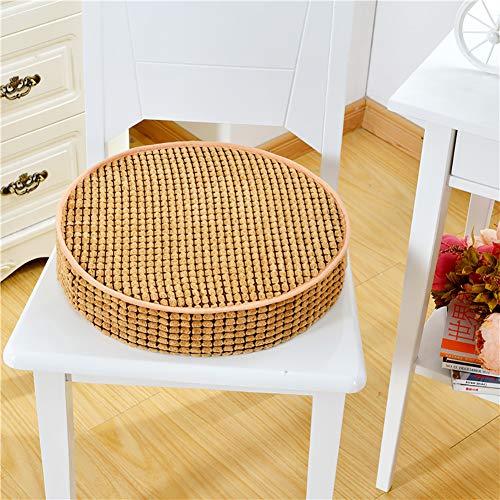 LICEA Thicken Round Plush Tatami Seat Cushion,Portable Sponge Ottoman for Floor Office Yoga Meditation Bay Window,Non Slip Comfortable Futon Seat Cushion