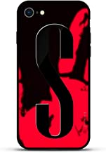 Luxendary Stylish, Fun, Creative, Design Oriented Cell Phone Case for iPhone 8/7 - Bold Initial S (Style #3) - Magma (Color Shifter)