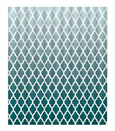 """Ombre Turquoise Geometric DIY 5D Diamond Painting Numbering Kit asbtract Teal Quatrefoil Trible Moroccan Tile Pattern Heavy textuprint Full Drill Painting Arts Craft Canvas 18""""x20"""""""