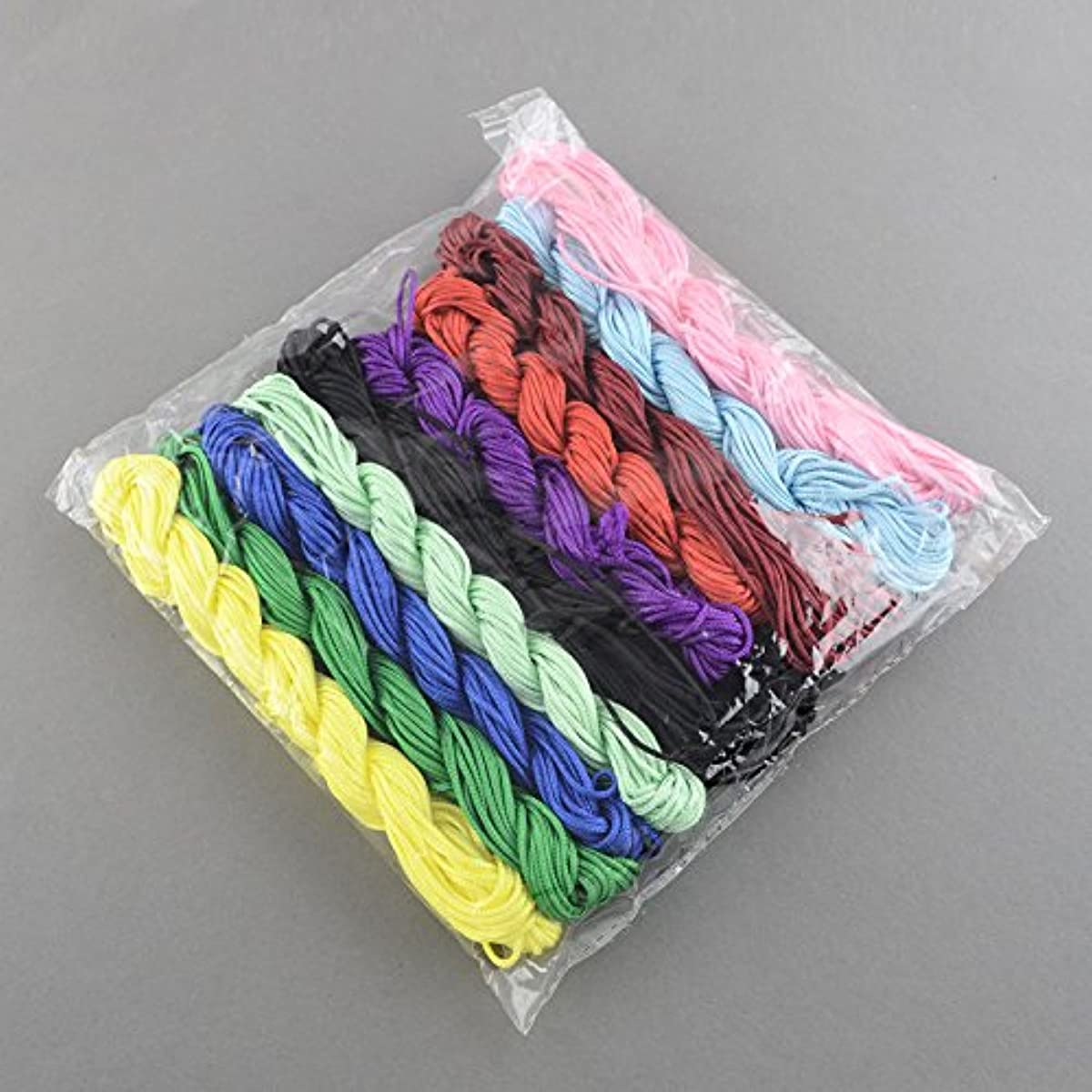 PEPPERLONELY Brand 10 Bundles x 27 Yards 1mm Nylon Beading String Knotting Cord Chinese Knotting Cords