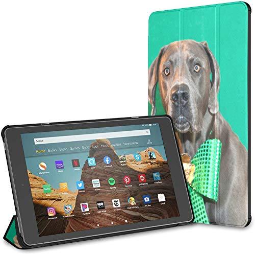 Estuche para Tableta Patrick Day Dog Puppy Fire HD 10 (9.a / 7.a generación, versión 2019/2017) Estuche HD Fire 10 Estuche para Tableta 10 Fire HD Auto Wake/Sleep para Tableta de 10.1 Pulgadas