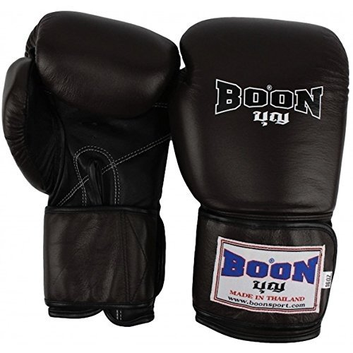 BOON THAI STYLE TRAINING GLOVES - BGV - BROWN (16oz)