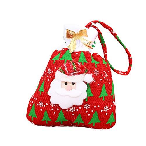 Qimao Decoración de Navidad Suministros patrón de Dibujos Animados Lindo Titular de Navidad Los niños de Caramelo Bolsa de Almacenamiento Paquete de Regalo de Año Nuevo