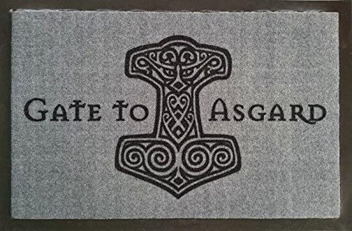 Gate To Asgard Fussmatte Wikinger Fußmatte Dreckmatte Türabstreifer Türmatte Odin Fußabstreifer Teppich doormat