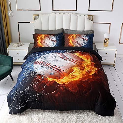 Baseball Comforter Sets for Boys Teens 3D Sports Theme Pattern Bedding Quilt Sets 1 Comforter product image
