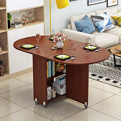 Klaptafel Home Ovaal eettafel restauranttafel op wielen 360 & deg; roterende stelescoop mobiel bureau keuken woonkamer eetkamer slaapkamer E D