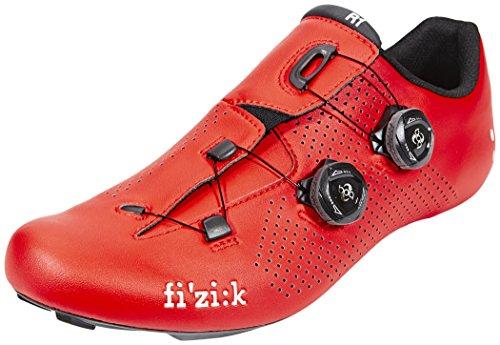 Fizik R1B - Zapatillas de ciclismo, Unisex adulto, Rojo, 41½