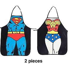 Cycorld Superman & Wonder Woman Apron Set