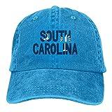 AINCIY Adultos Bandera de Carolina del Sur Palma Ajustable Casual Gorra de béisbol Fresca Sombrero de Vaquero Retro Gorras teñidas de algodón