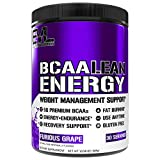 Evlution Nutrition BCAA Lean Energy - Essential BCAA Amino Acids + Vitamin C, Fat Burning & Natural Energy, Performance, Immune Support, Lean Muscle, Recovery, Pre Workout, 30 Serve, Furious Grape