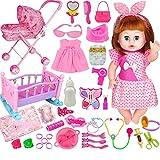 YUEBAOBEI Exquisite Deluxe Doll Set/Reden, Füttern, Pinkeln, Puppen, Spielzeug, Kleine Mädchen,...