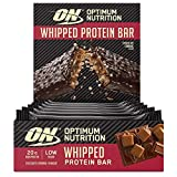 OPTIMUM NUTRITION ON Whipped Bar, Barritas Proteínas con Cobertura de Chocolate con Leche, Bajo en Azúcar, Caramelo de Chocolate, 10 Barras (10 x 60 g)