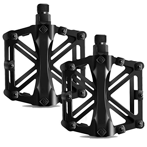 ZatRuiZE Bicycle Pedals, Mountain Cycling Bike Pedals 9/16 Aluminum Anti-Slip Durable Sealed Bearing Axle for Mountain Bike BMX MTB Road Bicycle