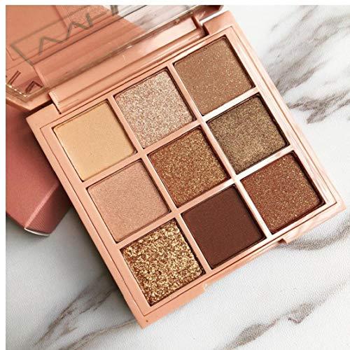 Naicasy 1PC Mejor Pro Maquillaje Mate de 9 Colores Sombra de Ojos de Alta pigmentación de Ojos en Polvo cálido y Profesional Colores Naturales cosméticos Sombras de Ojos