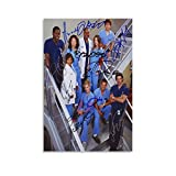 ASDED Grey's Anatomy Tv Show Cast Reprint Signed Autographed Photo RP Greys Poster Decorative Painting Canvas Wall Art Living Room Posters Bedroom Painting 08x12inch(20x30cm)