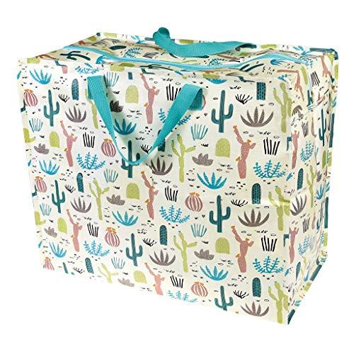 LS-LebenStil XXL Jumbo Bag Wüste Kaktus Recycled Allzwecktasche Einkaufstasche
