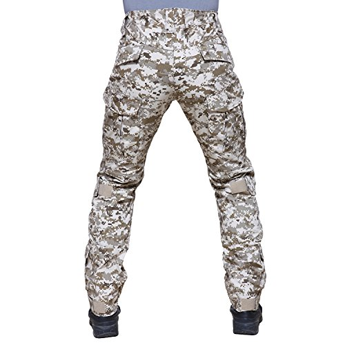 TACVASEN Tactical Ripstop Military Trousers Cargo Pants with Knee Pads