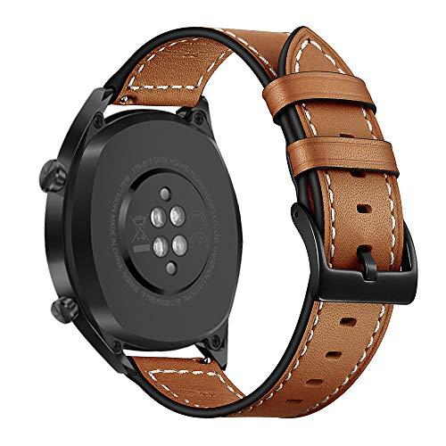 AISPORTS Correa de reloj de liberación rápida de 22 mm compatible con Garmin Vivoactive 4 correa de piel para mujeres y hombres, correa de repuesto para Huawei Watch GT 2 Pro/GT 2e/GT 2 46 mm/GT