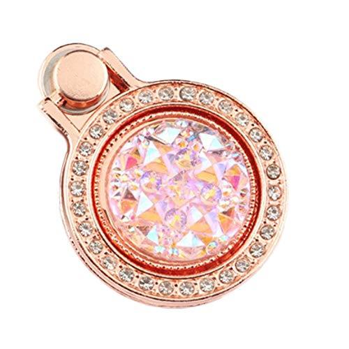 WanBeauty Soporte para teléfono celular Soporte para teléfono móvil, diseño de diamantes de imitación brillantes, regalo para iPhone iPad compatible con todos los teléfonos inteligentes oro rosa