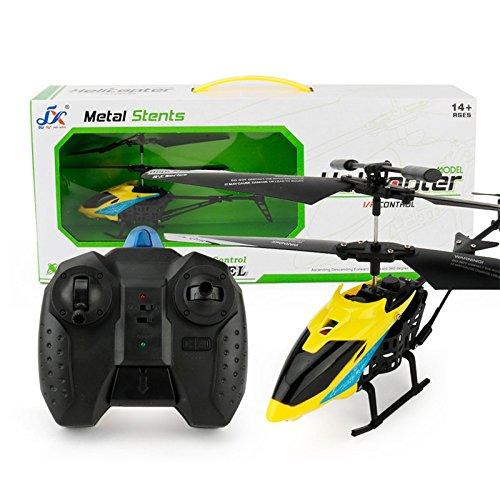Juguete para niños de ACHICOO, modelo mini para avión teledirigido por infrarrojos con giroscopios de 2 canales, helicóptero para niños, color amarillo, regalo divertido para niños