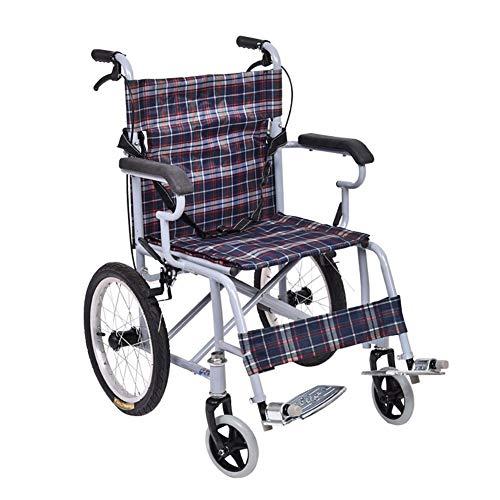 MYYLY Rollstuhl Rollstuhl, Faltbare Rollstuhl, Tragbarer Attendant Antrieb Rollstuhl Mit Beinschutz Gürtel Design, Geeignet for Behinderte Und Behinderte Nutzer Rollstühle