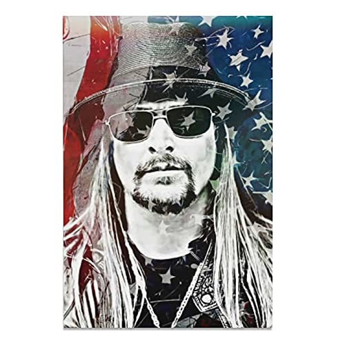 Kid Rock Art PosterPosters Canvas Painting Wall Living Room kitchen Bedroom Picture Prints Modern Family Decor office gift Art 08x12inch(20x30cm)