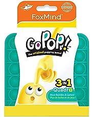 フォックスマインド 【正規品】 Go Pop! スクイーズ玩具 プッシュポップ 四角形 ティールグリーン