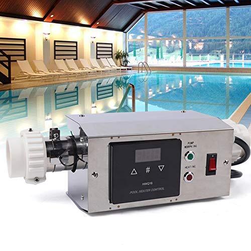 Kaibrite Chauffage électrique pour piscine - 3 kW - Pompe à chaleur - Régulateur de température - Chauffe-eau - Pour baignoire chaude et froide