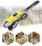Extractor de miel eléctrico, cuchillo de miel de corte eléctrico a temperatura constante, cuchillo de cápsula de cera de abeja con control de temperatura digital (enchufe UE)