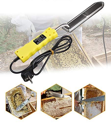 HXC Elektrische honingmes, 220 V, elektrische honingkatapult met temperatuurregeling, honing, verwarming, extractor, mes, honing, ontdekkingsschraraper, bijenteelt gereedschap