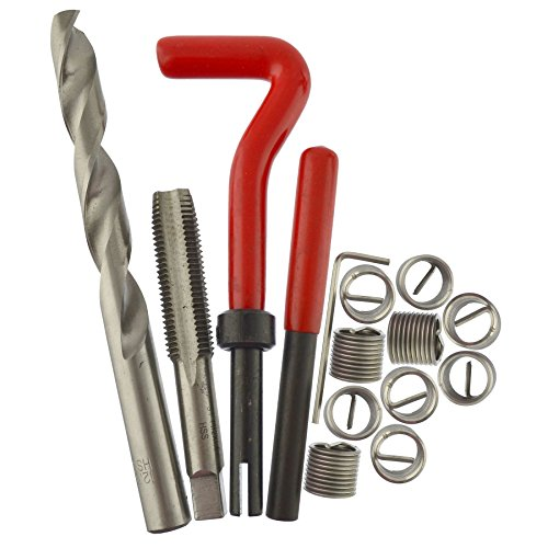 AB Tools M12 x 1.5mm Thread Repair kit/helicoil 15pc Set Damaged Thread AN046