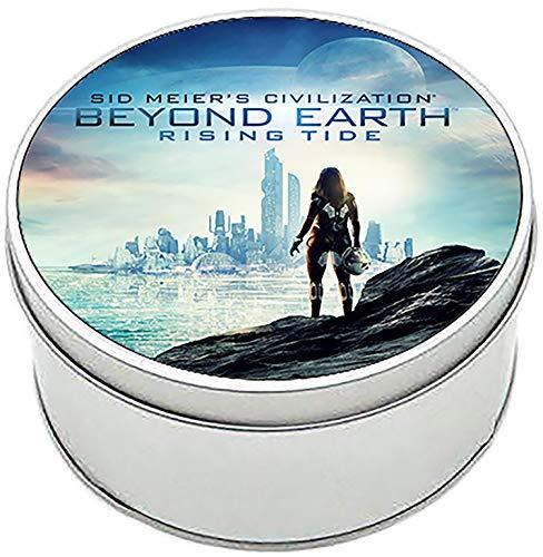 MasTazas Civilization Beyond Earth Rising Tide Scatola di Latta Rotonda in Metallo Round Metal Tin Box