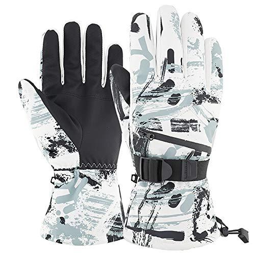 Guantes Térmicos De Invierno para Hombre/Mujer, Guante para Pantalla Táctil, Resistente Al Agua, Resistente Al Viento, Cálido, para Conducir, Esquiar, Andar En Bicicleta, Correr A,M(10cm)