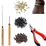Hair Extension Kit Pliers Pulling Hook Bead Device Tool...