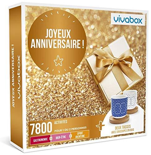 Vivabox - Coffret cadeau anniversaire - JOYEUX ANNIVERSAIRE ! - 7800 activités au choix + 2 tasses