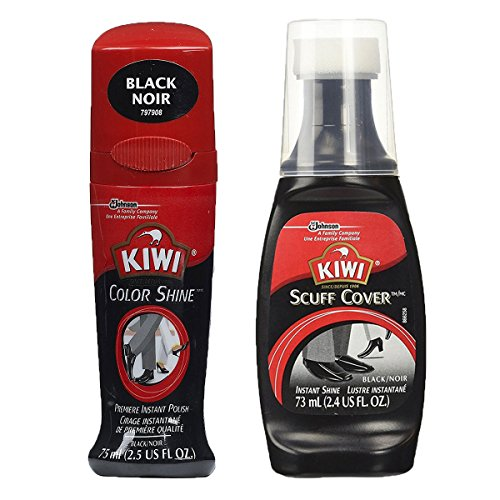 Kiwi Premiere Shine variety pack (Scuff Cover and Color Shine (Black))