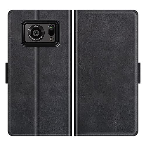Mking Tech Funda de Cuero para Protectores de teléfonos celulares para Sharp Aquos R6 5G /Huawei Mate 30 Pro / P20/ 40/50 /X/RS/2020, Flip/Billetera/Cierre magnético/Carcasa de teléfono móvil