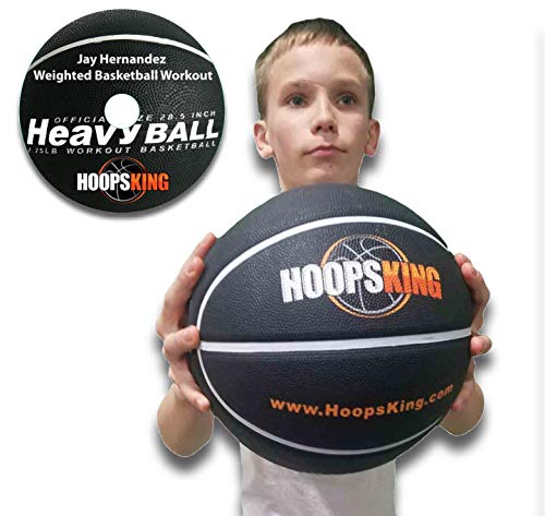 HoopsKing Weighted Basketball with Training DVD, 28.'5-2.75 lbs, 29.5' - 3 lbs (29.5 Inch (Men))