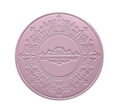 Set di 6 sottobicchieri in ecopelle rosa di alta qualità, design orientale, eleganti sottobicchieri, sottobicchieri, per bar, caffè, facili da pulire, idea regalo