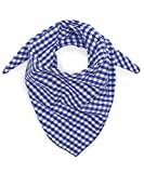 Tracht & Pracht - Hombres 100% algodón - Paño tradicional, pañuelo para el cuello, bandana, bufanda, pañoleta para el cuello, cuadros - Azul