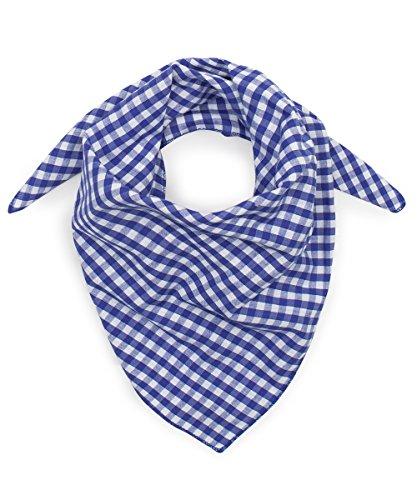 Tracht & Pracht - Herren 100% Baumwolle - Trachtentuch Nickituch Karo - Blau