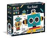 Clementoni-15285 - Crea tu Robot - juego creativo a partir de 4 años