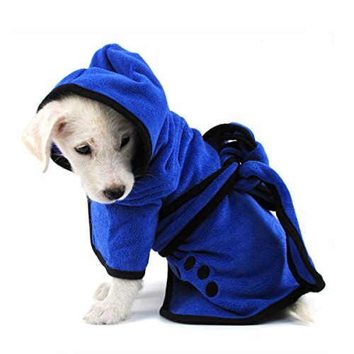 PETCUTE Asciugamano per Cani Accappatoio per Cani Asciugamano per Cani Accappatoio da Asciugatura Rapida per Cane Pigiama Piccolo Medio Grande Taglia